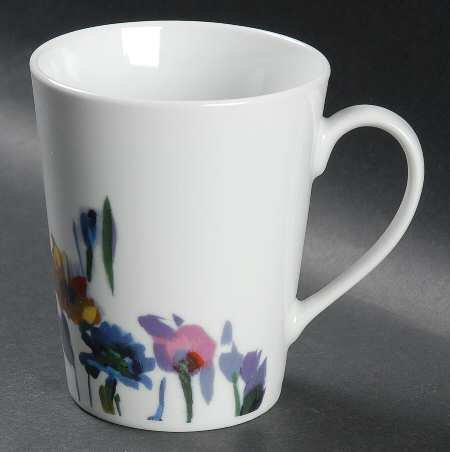 Mikasa Watercolor Garden Mug, Fine China Dinnerware