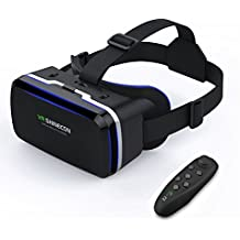 VR Headset LEKAMXING Virtual Reality Headset - for iPhone X/7/6S/6Splus/6/5,Galaxy, Huawei,Google, Moto & All Android Smartphone 4.7~6.0 inches, Adjust Strap & With Remote Controller