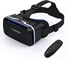 VR Headset Virtual Reality Headset - Compatible for iph X/7/6s/6splus/6/5,Galaxy, Huawei,Google, Moto and Android All Smartphone 4.7~6.0 inches and With Remote Controller