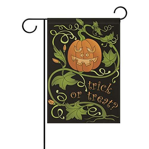 Afagahahs Garden Flag Halloween Jack-O-Lantern Pumpkin Double Sided Long Flag Holiday Decorative House Flag Indoor Outdoor Wedding Party Home Yard Decor 16x30 Inch]()
