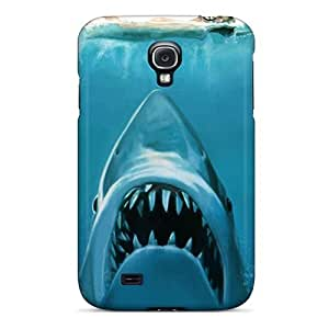 Ultra Slim Fit Hard Evanhappy42 Cases Covers Specially Made For Galaxy S4- Water Concept Funny Sharks Swimming Jaws
