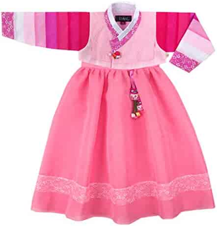 87f839214 Korean Beautiful Girl's Traditional Clothing Hanbok Dress Baby Girl Clothes  Birthday New Year Party Event Gaw