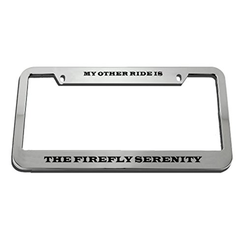 Speedy Pros My Other Ride Is The Firefly Serenity License Plate Frame Tag (Firefly Frame)