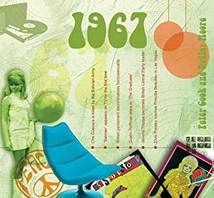 1967 BIRTHDAY or ANNIVERSARY GIFT - The 1967 Classic Years Compilation CD - Year Card 6 x 5.5 Inches (Year 6 Anniversary Gift)