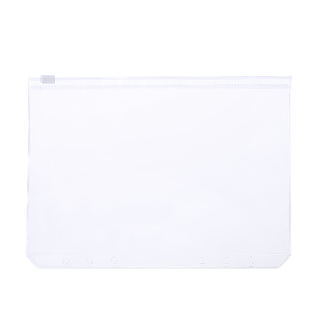 yaonow Clear PVC Storage Bag Pouch for Notebook Diary Day Planner Zipper Business Cards (A5)