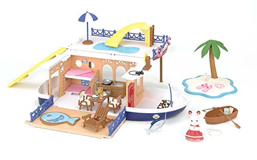 Calico Critters Seaside Cruiser Houseboat Toy (Seaside Boats)