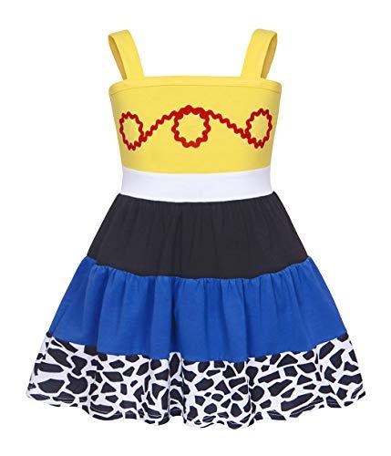 AmzBarley Jessie Costume Girls Cow Girl Dress