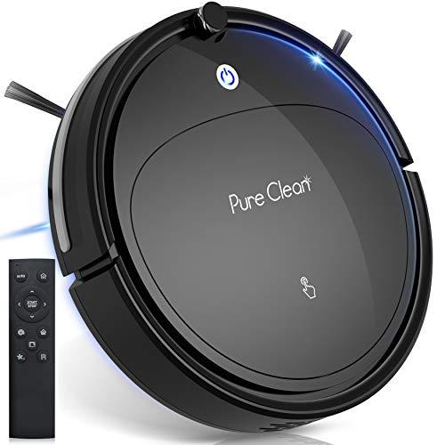 UV Light Robot Vacuum Cleaner - Self Charging Robo Vacuum Cleaner - UV Light Sterilizer, 1200pa Suction, Self Path Navigation, 70 Min Run Time - Carpet Hardwood Linoleum Tile - SereneLife PUCRCX70