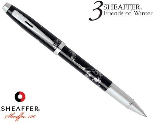Sheaffer Silk Screened Pine Design Rollerball, Black (9298-1) (Paper Screened Silk)
