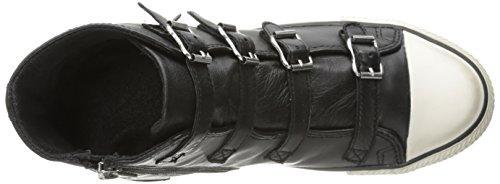 Zapatillas Altas Con Hombros Descubiertos En La Mujer Ash Black