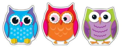 Carson Dellosa Colorful Owls Cut-Outs (120107)