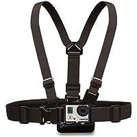 ST-27 Adjustable Body Chest Strap Mount Belt Harness with Buckle Bracket Screw for GoPro Hero2 Hero3 Color Black