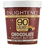 Enlightened - The Good For You Ice Cream, High Protein-Low Sugar-High Fiber-Low Fat, Chocolate Peanut Butter, Pint (8 Count)