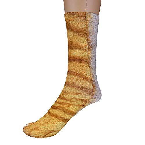 Price comparison product image Adult Socks, baskuwish Women Man Adult Unisex Animal Paw Crew Socks Sublimated Print (A)