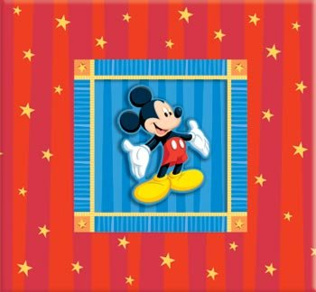 Embossed Mickey Postbound Album (Disney / Sandylion 12x12 Postbound Scrapbook Photo Album MICKEY MOUSE With)