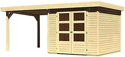 Karibu Wood Feeling Jardín Casa Askola 3, 5 Cultivo con techo 2, 75 m: Amazon.es: Jardín