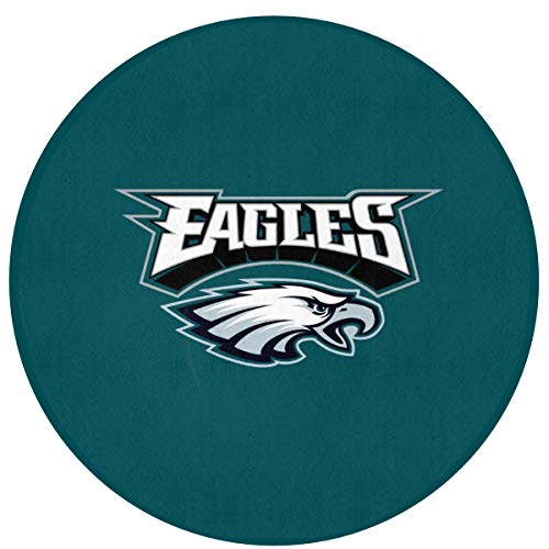 MamaTina Custom Colorful Round Doormat Philadelphia Eagles American Football Team Non-Slip Round Floor Mat Rug Indoor Entrance Bathroom Kitchen Bedroom Home Decor