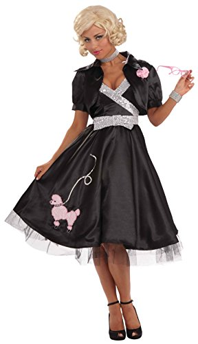 Forum Novelties Women's Flirtin' with The 50's Poodle Diva Costume Dress, Multi, (50's Halloween Costumes Plus Size)