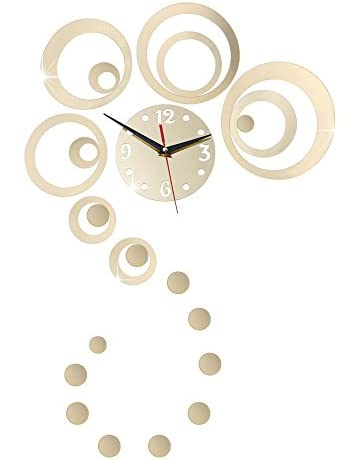e83d6fea2b URAQT Creative DIY Acrylic Mirror Wall Clock -DIY Decorative Modern Mirror  Wall Clock Sticker-