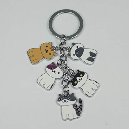 (Key Chains - Halder Fashion New Game Neko Atsume Metal Pendant Keychain Charm Cute Cat Keychain Car Accessories - by YPT - 1 PCs)
