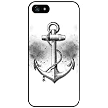 Black and White Anchor Phone Case Custom Well-designed Hard Case Cover Protector For Iphone 5 5s