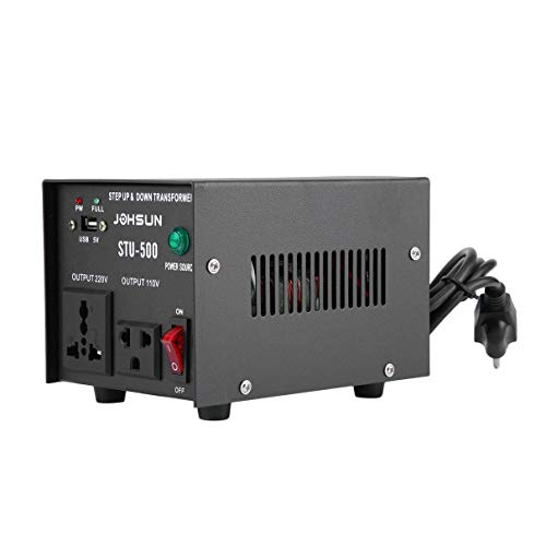ome Use 500W Step Up and Down Transformer 110V/220V to 220V/110V Voltage Converter Power Inverter US Plug ()