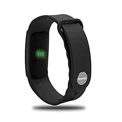Fitness Tracker Heart Rate SHONCO Waterproof Bluetooth Pedometer Bracelet Activity Tracker Wristband Smart Sports Band Watch with Touch Screen Step Counter Health Sleep Monitor for iPhone Android