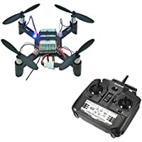 Owill DM002 Mini 2.4G 4CH 6-Axis One Key Return LED DIY RC Quadcopter RTF Transmitter Helicopter (Black)
