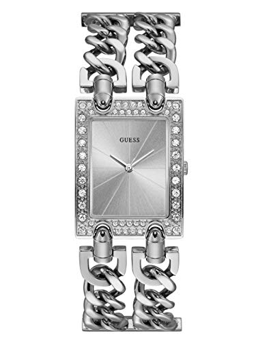 - GUESS  Silver-Tone Crystal Multi-Chain Bracelet Watch with Self-Adjustable Links. Color: Silver-Tone (Model: U1121L1)