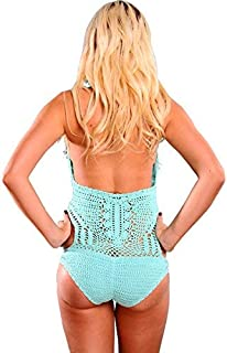product image for Womens One Piece Crochet Vintage Monokini with Scrunch Butt