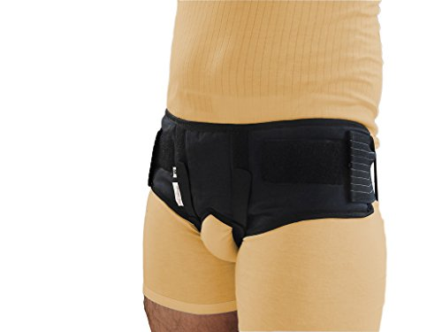 Wonder Care-Black Double / Single Inguinal Hernia Belt Support Brace - Truss Brace with two compression pads-medium by Wonder Care (Image #2)