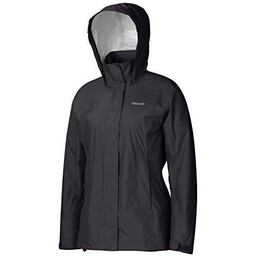 (Marmot PreCip Women's Lightweight Waterproof Rain Jacket, Black, Medium)