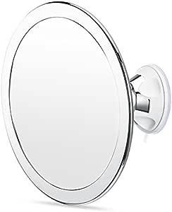 Charmax 6.5 Inch Large Fogless Shower Mirror, Bonus Razor Holder, No Fog Shaving Mirror for Bathroom, Chrome