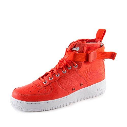 Nike Men's SF AF1 Mid Team Orange/Team Orange Basketball Shoe 10 Men US by NIKE