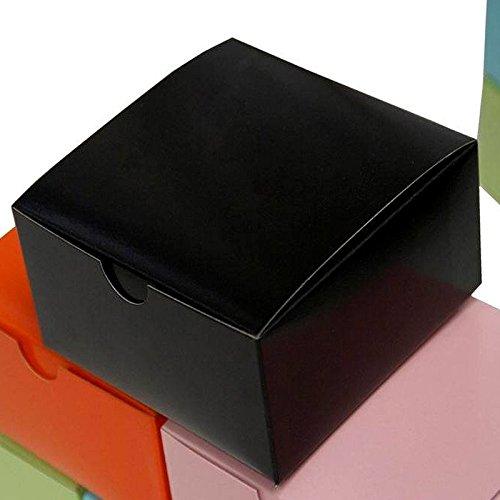 BalsaCircle 100 Black Cake Wedding Favors Boxes with