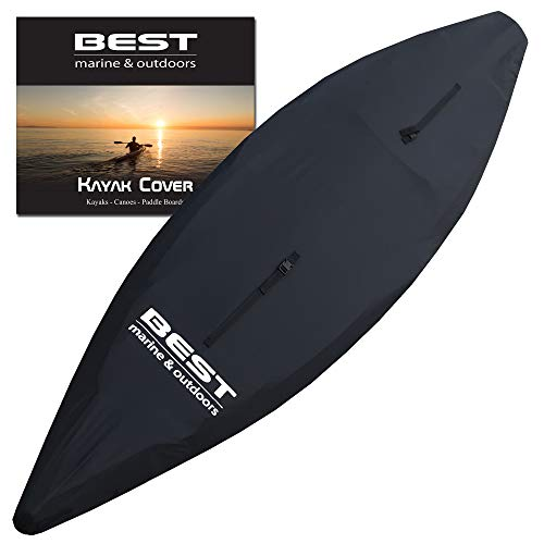 Best Marine Kayak Cover (S) Accessories for Indoor/Outdoor Storage. Durable Waterproof Covers That Protect Your Kayaks and Cockpit from UV Rays, Debris and Water. Also Works with SUP Paddle Boards