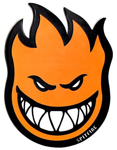 (Spitfire Wheels Orange Fireball Skateboard Sticker - Skate Board Flame fire Skate Skateboarding sk8)