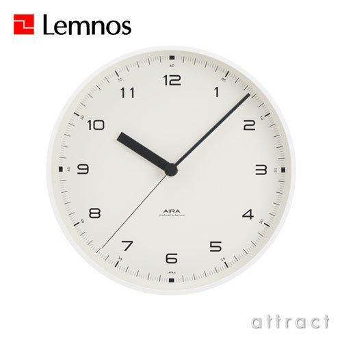 Lemnos レムノス Urban clock アーバンクロック LC10-03 カラー:ホワイト Φ20cm スイープムーブメント スタンド付属 秒針有 壁掛け時計 置き時計 B00ECU7ZJS ホワイト ホワイト