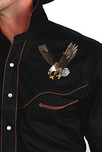 Herren 100% Baumwolle Retro Western Eagle Shirt