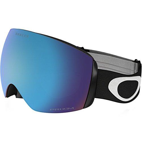 Oakley Flight Deck XM Snow Goggles, Matte Black, Prizm Sapphire Iridium, - Sunglasses Skiing Oakley