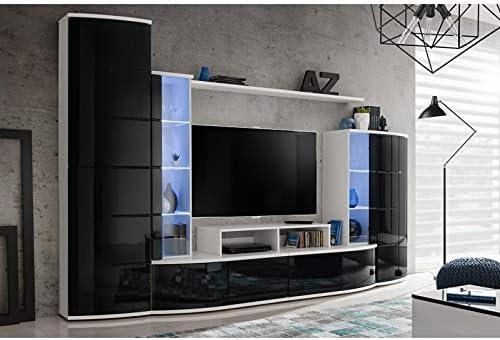 ASM Leave - Conjunto de Pared para televisor, Color Blanco y Negro: Amazon.es: Hogar