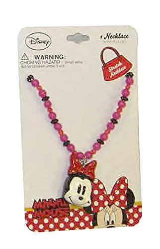 Disney Girls Minnie Mouse Face Dress Up Jewelry Bead Necklace ()
