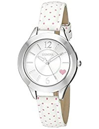 Geneva Women's FMDX312C Analog Display Japanese Quartz White Watch