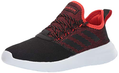 adidas Men's Lite Racer Reborn, Black/Active red, 8 M US