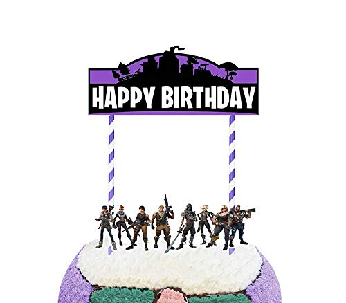 Party Hive Game Fortress Cake Topper Set for Birthday Party Event Decor