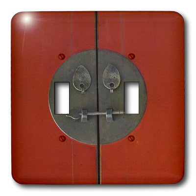 3dRose LLC lsp_7980_2 Oriental Lock, Double Toggle Switch by 3dRose (Image #1)