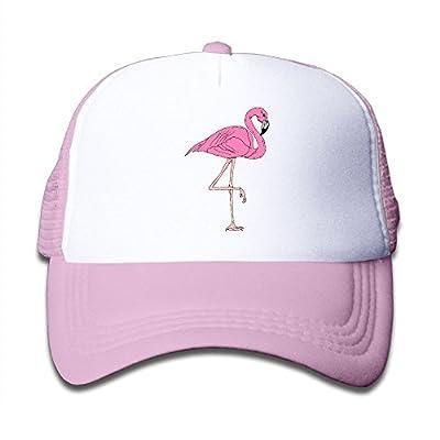 Kid's A Flamingo Trucker Baseball Cap Adjustable Mesh Hat Girl Boy