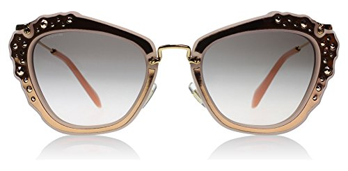 Miu Miu Women's Embellished Sunglasses, Matte Pink/Grey Pink, One Size by Miu Miu