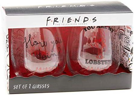 Paladone Copas de vino de cristal, multicolor, tamaño mediano