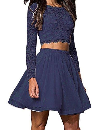 2 Piece Short Dress Cocktail Dress - 9